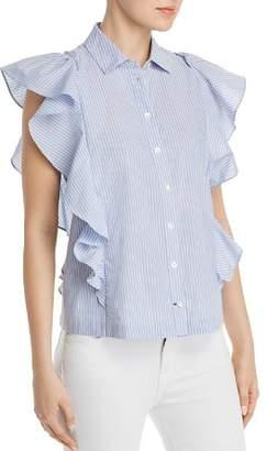 Kate Spade Ruffle-Trim Striped Shirt