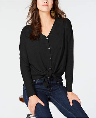 Style&Co. Style & Co Petite Button-Front Thermal Top