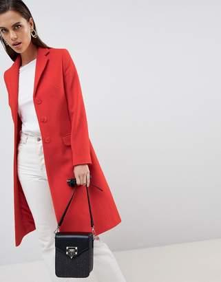 Helene Berman Longline Wool & Cashmere Blend College Coat