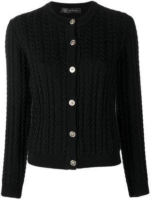 Versace cable-knit slim cardigan