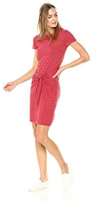 Three Dots Women's Big Sur Stripe Short Loose Dress