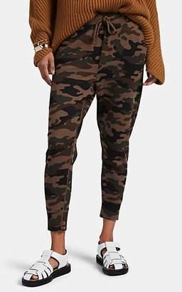 Nili Lotan Women's Nolan Camouflage Cotton Crop Sweatpants - Brown