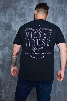 boohoo Big And Tall Disney Classic Back Print T-Shirt