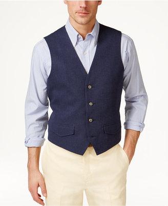 Tasso Elba Men's Linen Vest, Only at Macy's $55 thestylecure.com