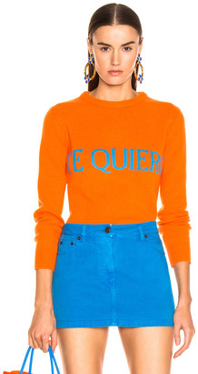Alberta Ferretti Te Quiera Sweater in Orange | FWRD