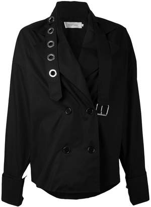 Marques Almeida Marques'almeida strappy double-breasted coat