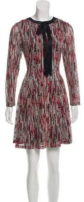 Alice + Olivia Long Sleeve Knee-Length Dress