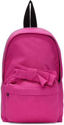 Comme des Garçons Girl Pink Nylon Bow Backpack $275 thestylecure.com
