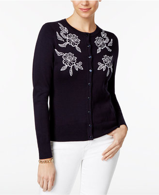Charter Club Floral-Embroidered Cardigan, Only at Macy's $39.98 thestylecure.com
