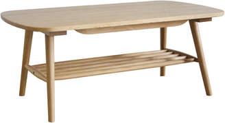 Webster Temple & Oscar Oak Coffee Table with Shelf