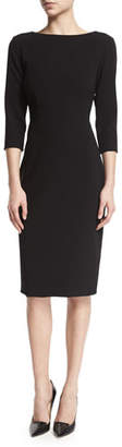 Theory Varetta Admiral Crepe Sheath Dress, Black