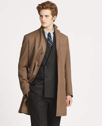 Ralph Lauren Morgan Wool Twill Topcoat