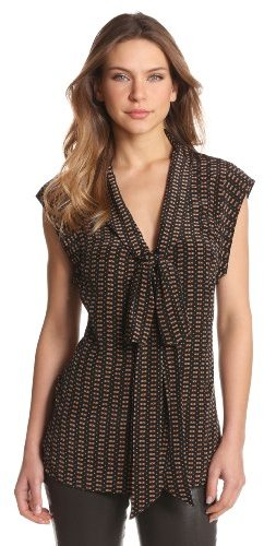 Tracy Reese Women's Tie Neck Shirt