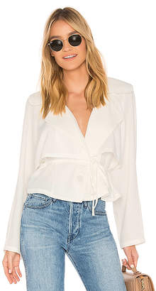 Line & Dot Demi Trench Top