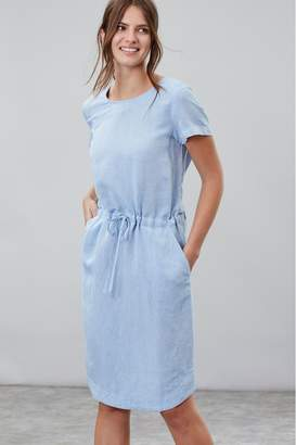 06f672885 Joules Womens Kiera Waisted Cap Sleeve Dress - Blue