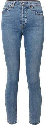 RE/DONE Originals High-rise Ankle Crop Ultra Stretch Skinny Jeans - Mid denim