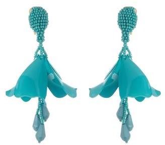 Oscar de la Renta Small Impatiens Drop Earrings