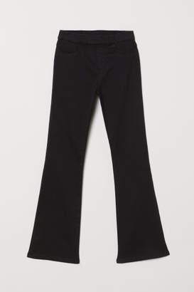 H&M Flared Twill Pants - Black