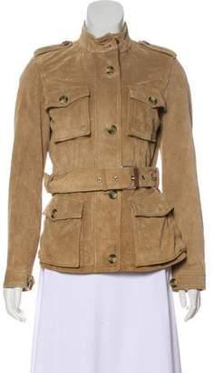 Max Mara Weekend Suede Military Jacket