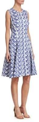 Lela Rose Seamed Lace Dress