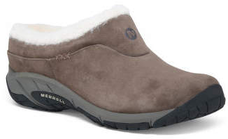 Comfort Cozy Lined Suede Clogs