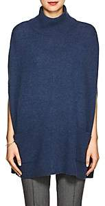 Barneys New York WOMEN'S CASHMERE TURTLENECK PONCHO - BLUE SIZE XS
