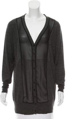 Anne Fontaine Wool-Blend Button-Up Cardigan