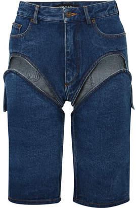 Y/Project 可拆卸挖剪牛仔短裤