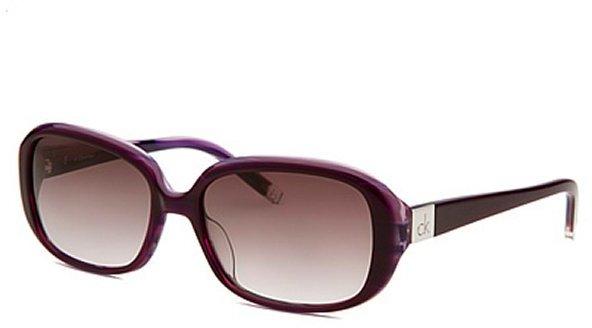 Calvin Klein Women's Rectangle Purple Sunglasses