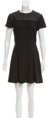 Proenza Schouler Leather-Paneled Mini Dress