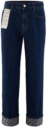 Stella McCartney Stella Mc Cartney Logo turn-up jeans