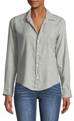 Frank And Eileen Barry Button-Front Long-Sleeve Cotton Shirt