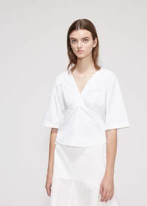 Calvin Klein Cut Out Sleeve V-Neck Top