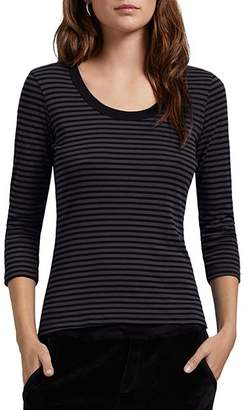 Michael Stars Andy Striped Scoop Neck Tee
