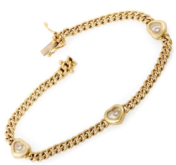 ChopardChopard 18K Yellow Gold Happy Diamonds Floating Diamond Heart Bracelet
