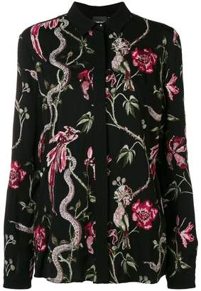 Just Cavalli floral embroidered shirt