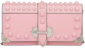 Prada Crossbody Bags Mini Bandoliera Bag In Smooth Leather With All-over Studs And Removable Shoulder Strap