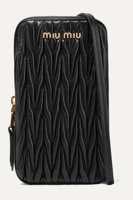 Miu Miu Matelassé Leather Pouch - Black