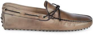 Tod's Leather Tie Driver Shoes