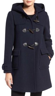 Women's Kate Spade New York Hooded Wool Blend Walking Coat $458 thestylecure.com