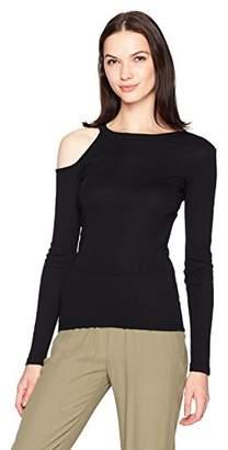 Monrow Women's Cutout Cold Shoulder Top