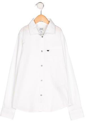 Armani JuniorArmani Junior Boys' Long Sleeve Button-Up Shirt
