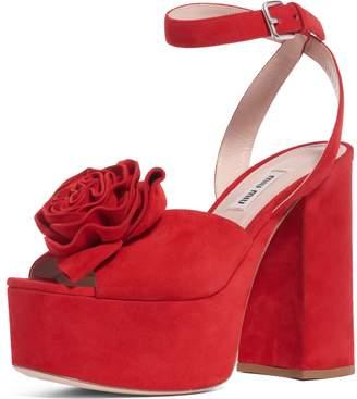 Miu Miu Flower Platform Sandal