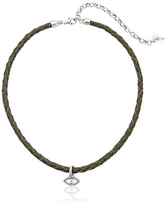 Lucky Brand Evil Eye Leather Choker Necklace