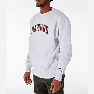 Champion Men's Harvard Crimson College Reverse Weave Crewneck Sweatshirt