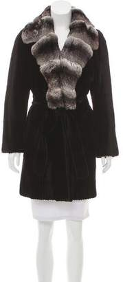 J. Mendel Sheared Mink and Chinchilla Fur Coat