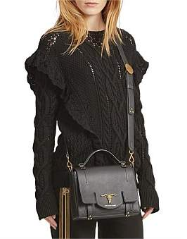 Polo Ralph Lauren Ruffle-Trimmed Cable Sweater