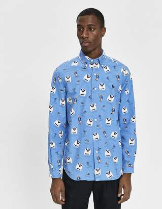 Polo Ralph Lauren Boathouse Bear Printed Button Down Shirt