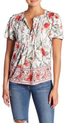Lucky Brand Short Sleeve Floral Printed Top