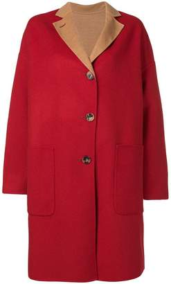 Alberto Biani reversible single-breasted coat